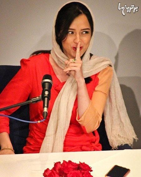 خالکوبی تتو روی دست ترانه علیدوستی در نشست رسانه ای فیلم فروشنده +عکس
