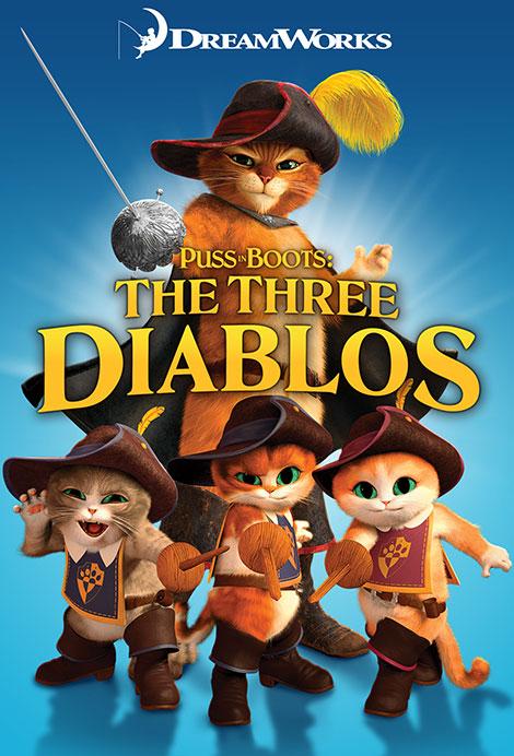 دانلود رایگان دوبله دوزبانه انیمیشن سه بچه گربه چکمه پوش Puss in Boots